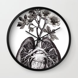 Flourishing Lungs Wall Clock
