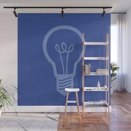 BlueLight Bulb Wall Mural