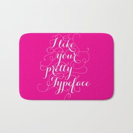 Pretty Typeface. Bath Mat