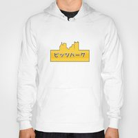 pittsburgh Hoodies featuring Tokyo Pittsburgh by Malc Doodle