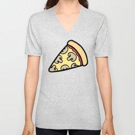 Mushroom Pizza Pattern Unisex V-Neck