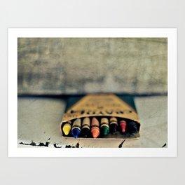 Vintage Crayons Art Print