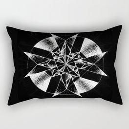Inverted Crystalline Compass Rectangular Pillow