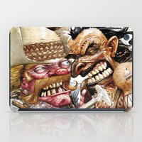 native american iPad Cases featuring cowboy and native american by Roger Cruz
