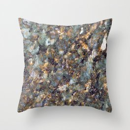 Emerald Granite Throw Pillow
