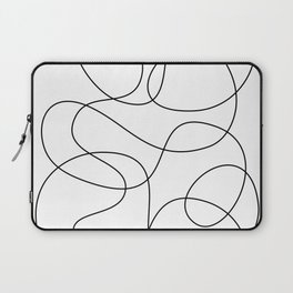 Minimal Black and White Abstract Line Laptop Sleeve