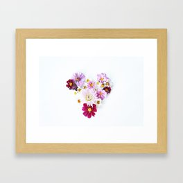 hearts and flowers Framed Art Print