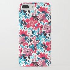 Happy Red Flower Collage Slim Case iPhone 7 Plus