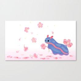 Cherry blossom slug Canvas Print