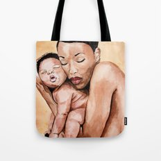 Mother and baby. Tote Bag