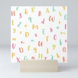 A to Z • Whimsical Crayon Alphabet Pattern Mini Art Print