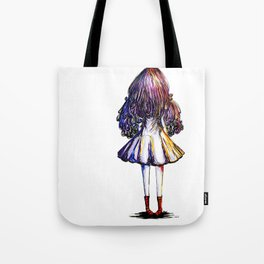 Faceless Girl and Red Doc Tote Bag