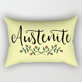 Jane Austen Floral Austenite Rectangular Pillow