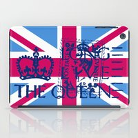 british flag iPad Cases featuring British Flag in Pink by GraphicDivine