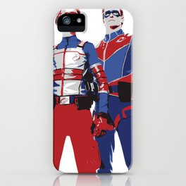 Captain Man and Kid Danger Lineart silhouette heroic iPhone Case