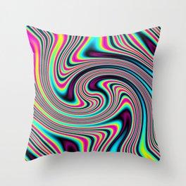 Colorful stripes Throw Pillow