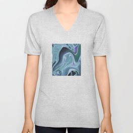 Blue Ocean Wave Abstract Unisex V-Neck