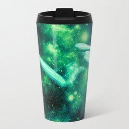 Green Galaxy Woman : Nude Art Travel Mug
