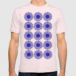 vintage flowers blue  T-shirt