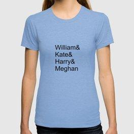 William & Kate & Harry & Meghan T-shirt