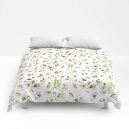 flower's seeds and seedpods Comforters