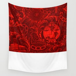 Red IOOF Woven Symbolism Tapestry Wall Tapestry