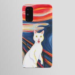 Cat surprise Android Case