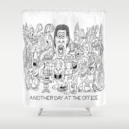 Office - Cartoon - Drawing Shower Curtain