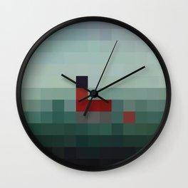 Lil Pixel Boat Wall Clock