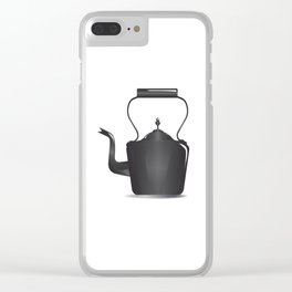 Victorian Black Kettle Clear iPhone Case