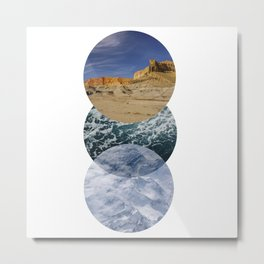 just go places Metal Print