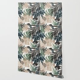 Tropical Jungle Leaves Pattern #13 (Fall Colors) #tropical #decor #art #society6 Wallpaper