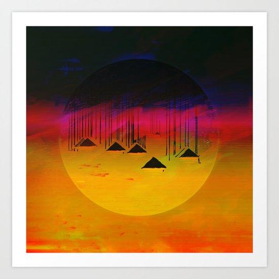 Pink Horizon / Archipelago 24-01-17 Art Print