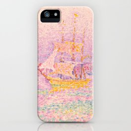 "Paul Signac ""Harbour at Marseilles"" iPhone Case"