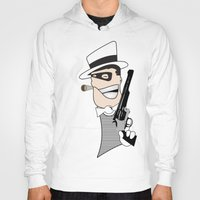 western Hoodies featuring Western Mobster by Grime Lab