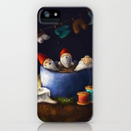 Bathing Gnomes iPhone Case