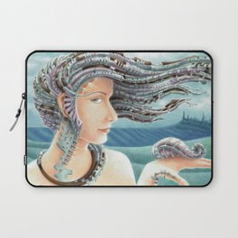 Portrait by the sea 2 Laptop Sleeve