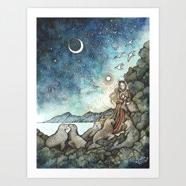 Gulltar II Art Print