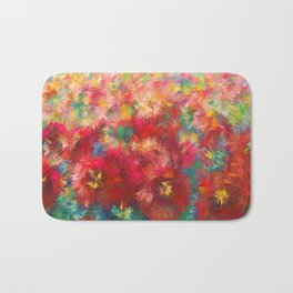 Impressionist Floral Abstract by OLena Art Badematte