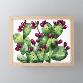 Prickly, Prickly Pear Cactus Framed Mini Art Print