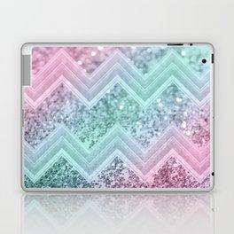 Mermaid Glitter Chevron #2 #shiny #pastel #decor #art #society6 Laptop & iPad Skin