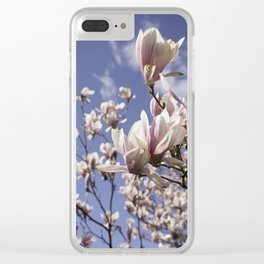 Magnolia Blossoms Shiver Against A Chill Wind Clear iPhone Case