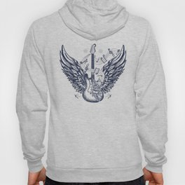 Guitar and wings Hoody