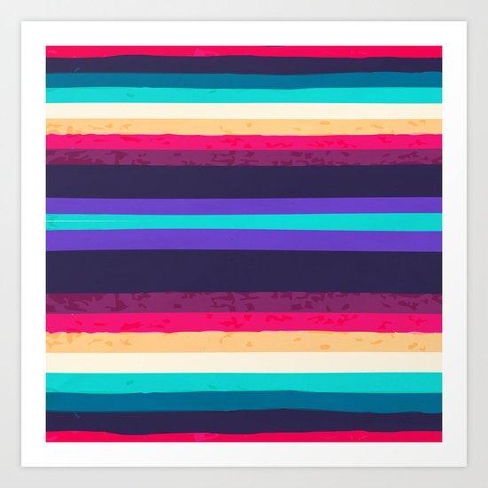 SURF STRIPES Art Print