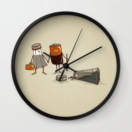 Assault and Battery Love Story. Wall Clock