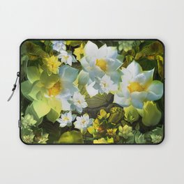 """""""White flowers forest"""" Laptop Sleeve"""