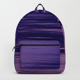 Movement of Water on a Calm Evening- Violet Abstraction Backpack