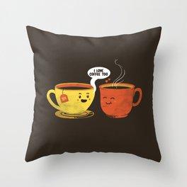 I Love Coffee Too Throw Pillow