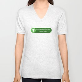 Achievement Unlocked Pooped Today Funny Unisex V-Neck