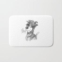 Max Sketch Bath Mat